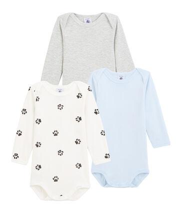 Tres bodis de manga larga para bebé niño lote .