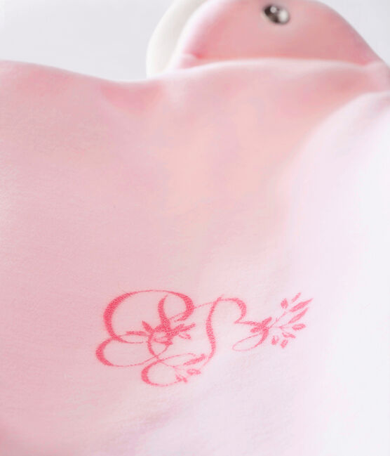 Saco para bebé niña en terciopelo liso VIENNE