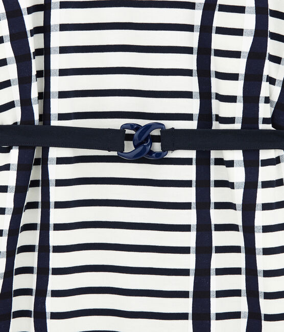 Vestido Kimono blanco Marshmallow / azul Smoking