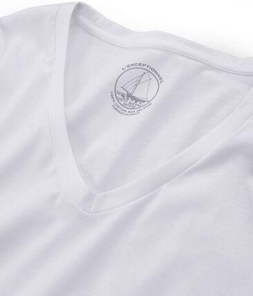 Camiseta manga larga de algodón Sea Island para mujer blanco Ecume