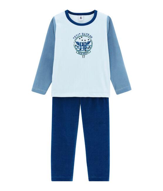 Pijama para niño azul Limoges / blanco Multico