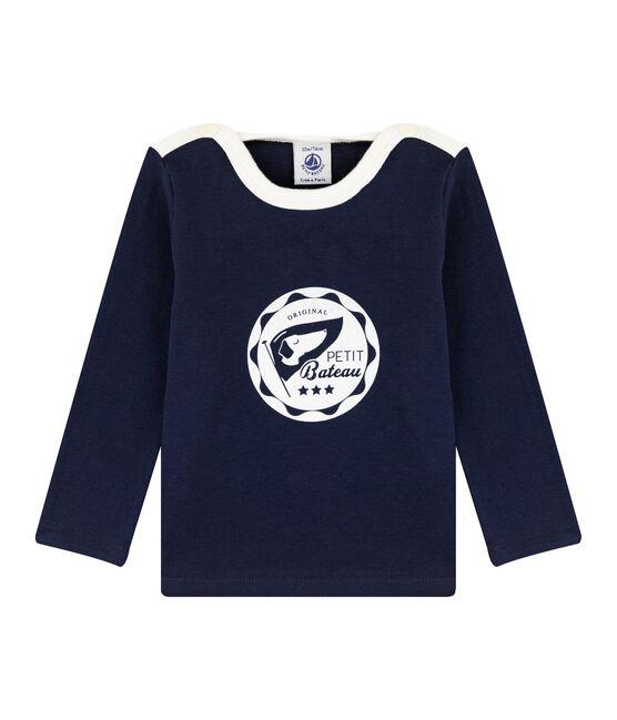 Camiseta para bebé niño azul Smoking