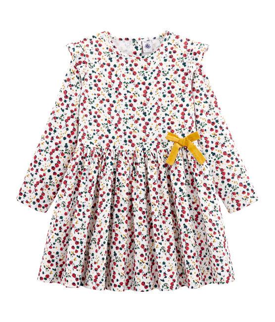 Vestido estampado para niña blanco Marshmallow / blanco Multico