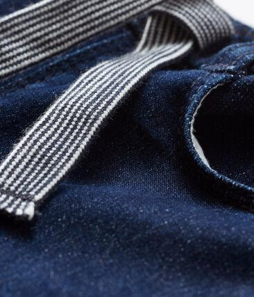 Pantalón en tela efecto vaquero para bebé unisex