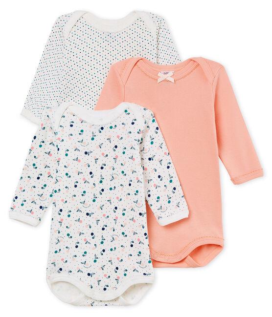 Tres bodis manga larga para bebé niña lote .