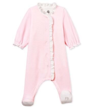 Bodyjama de terciopelo milrayas para bebé niña