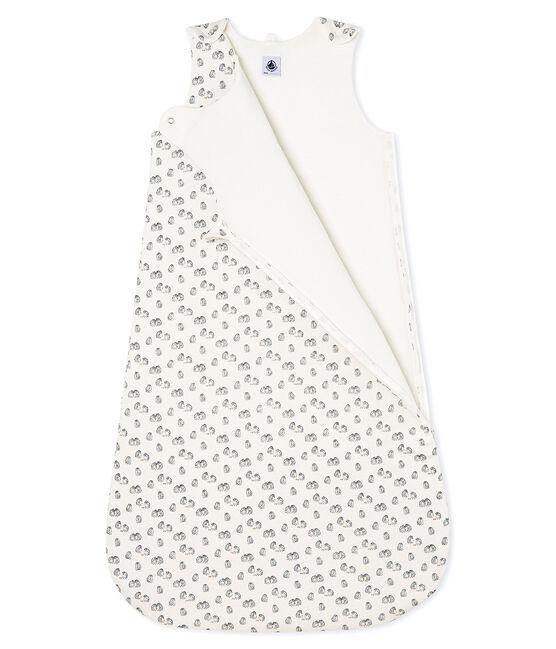 Saco de terciopelo para bebé blanco Marshmallow / gris Sculpture