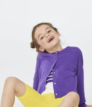 Cárdigan de niña violeta Real