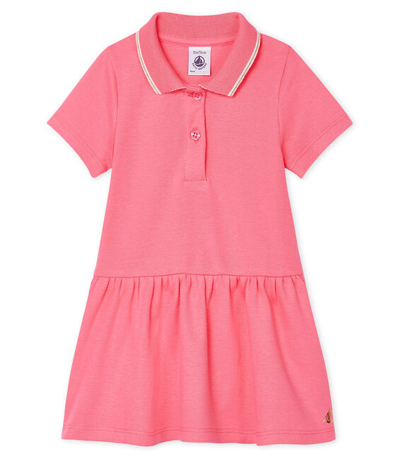 Vestido de polo para bebé niña rosa Cupcake
