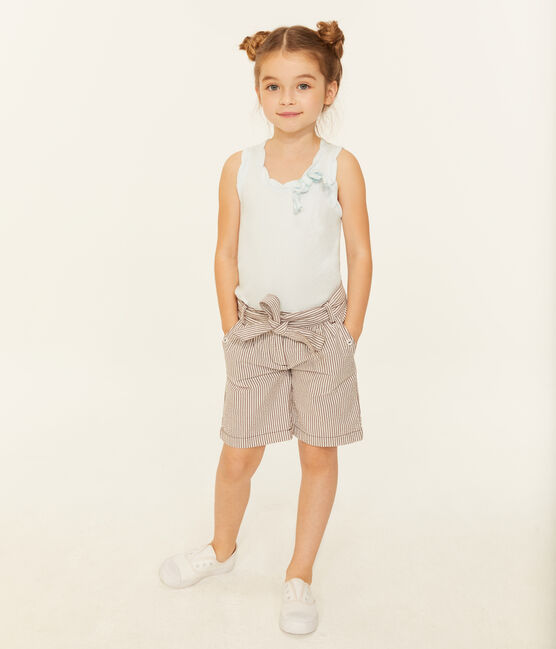 Shorts infantiles para niña rojo Vino / blanco Marshmallow
