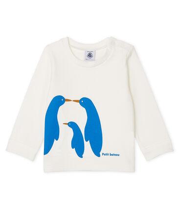 Camiseta de manga larga para bebé niño blanco Marshmallow Cn