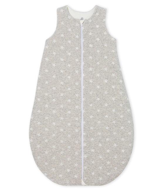 Saco de terciopelo para bebé niño gris Beluga / blanco Marshmallow