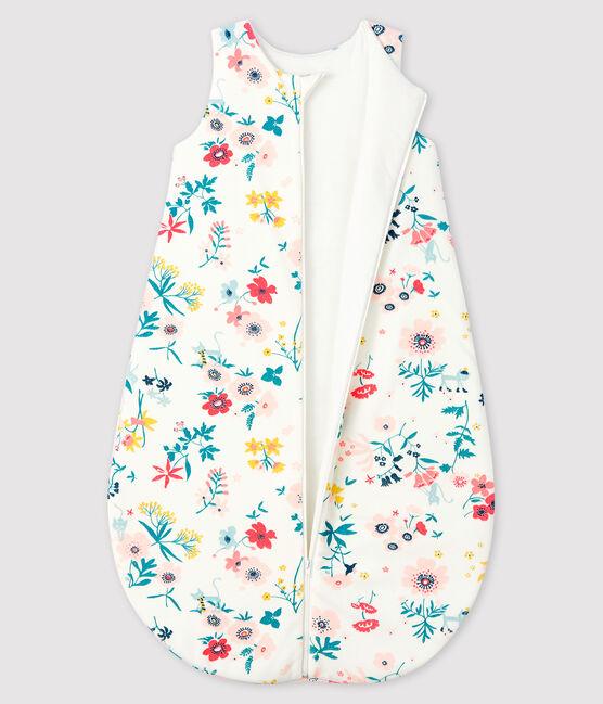 Saco de terciopelo para bebé niña blanco Marshmallow / blanco Multico