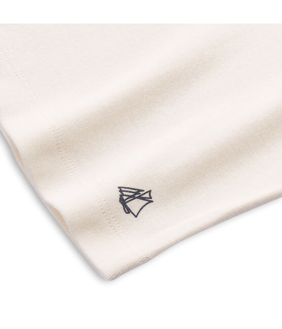 Jersey de cuello alto liso infantil unisex beige Coquille
