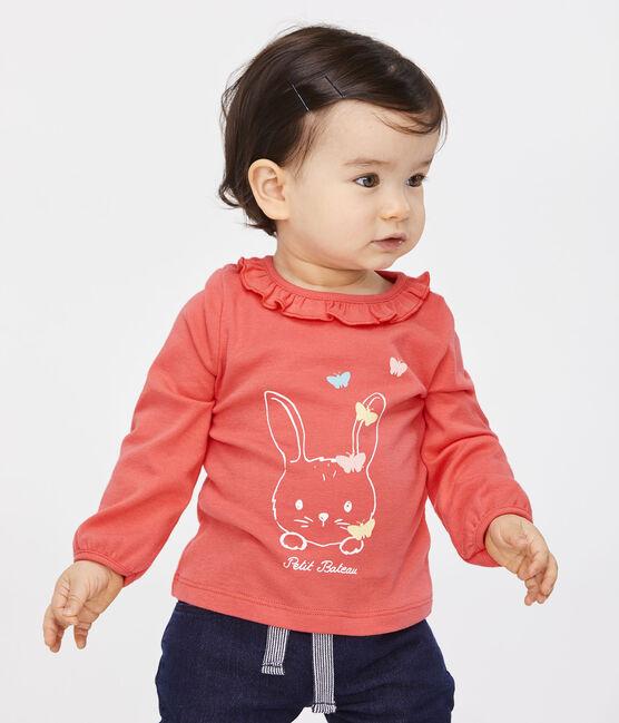 Blusa de manga larga para bebé niña rosa Groseiller