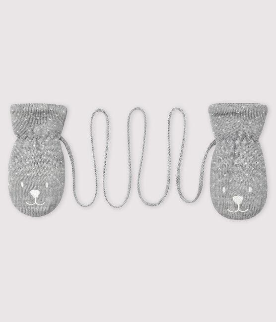 Manoplas para bebé con forro de microfibra polar gris Subway