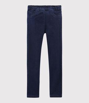 Pantalón vaquero para niña azul Denim Bleu Fonce