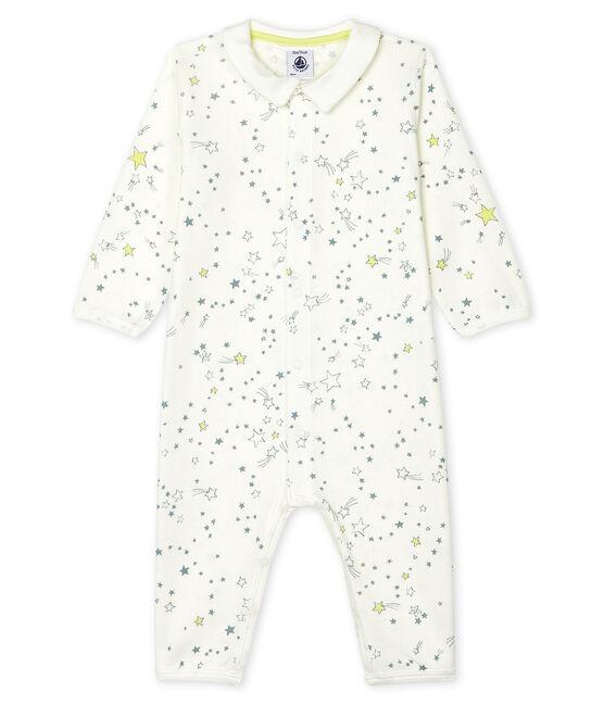 Pijama sin pies de punto para bebé de niño blanco Marshmallow / blanco Multico