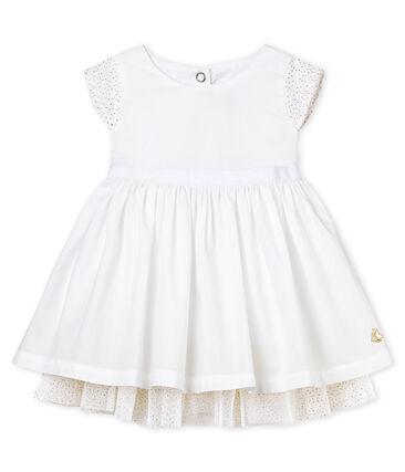 Vestido manga corta de ceremonia para bebé niña