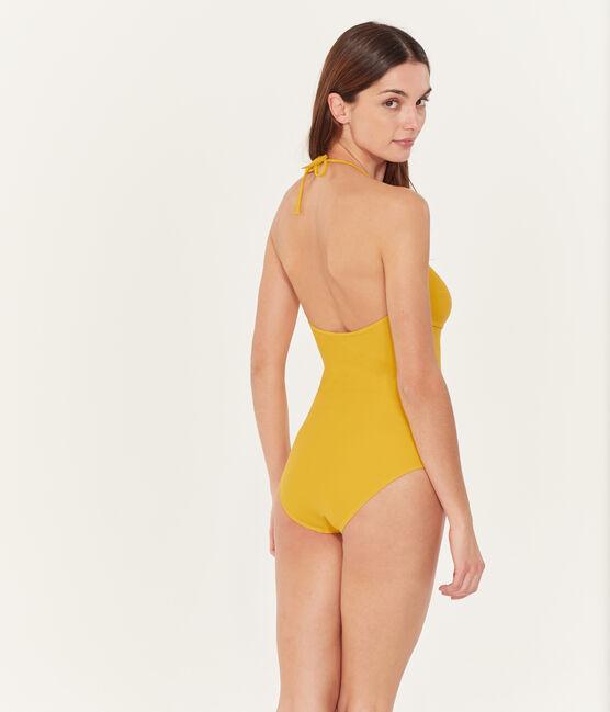Traje de baño 1 pieza para mujer amarillo Bamboo