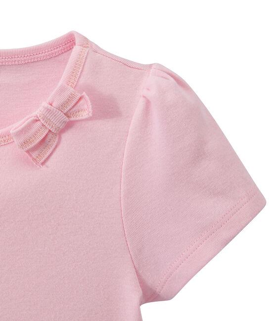 Camiseta de niña con lazo rosa Babylone