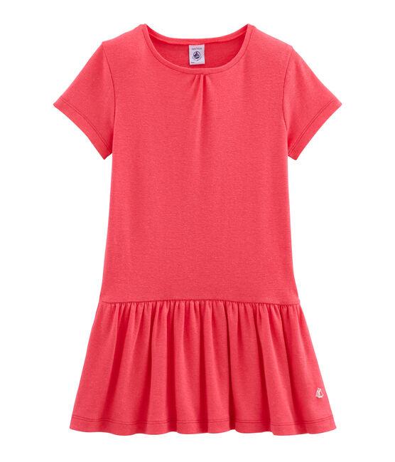 Vestido infantil para niña rosa Groseiller