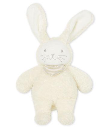 Peluche de conejo musical para bebé de borreguillo blanco Marshmallow