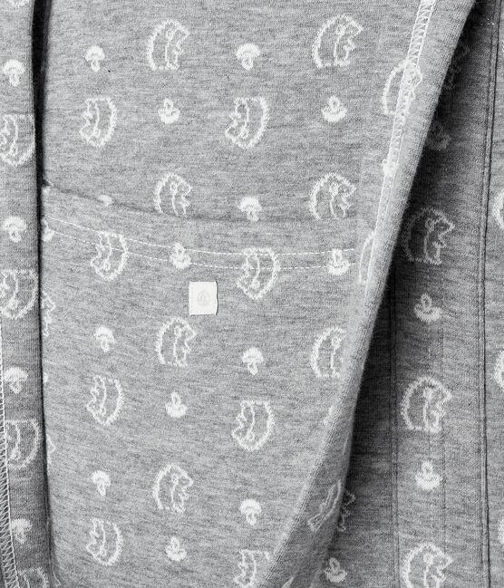 Bolso cambiador de jacquard de túbico con erizo gris Subway / blanco Marshmallow