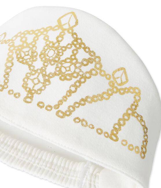 Camisón para niña pequeña blanco Marshmallow / amarillo Dore