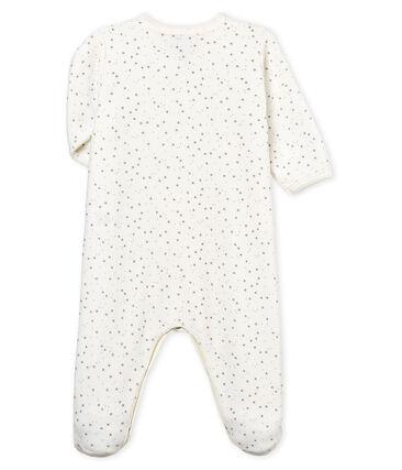 Pelele de terciopelo para bebé unisex blanco Marshmallow / gris Concrete