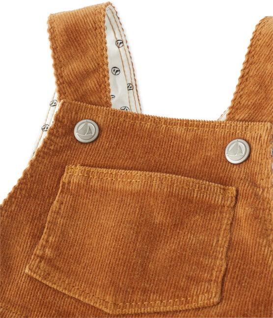 Peto para bebé niño en terciopelo stretch marrón Cuivre