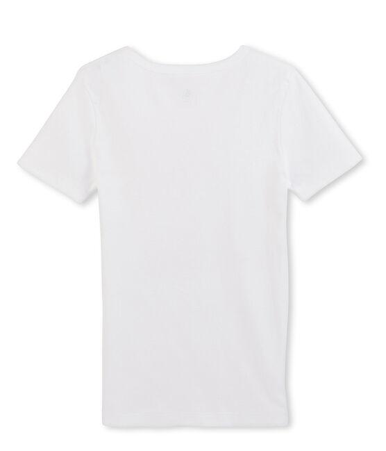 Camiseta de manga corta icónica para hombre blanco Ecume