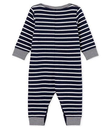 Mono largo con rayas marineras para bebé niño azul Smoking / blanco Marshmallow