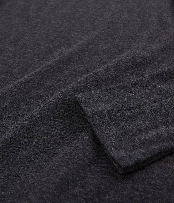 Cuello cisne para mujer en algodón ligero gris City Chine