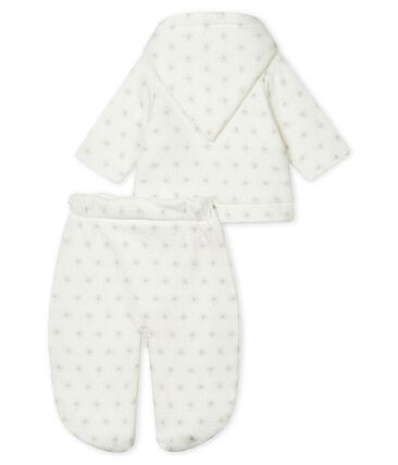 Mono de piloto 3 en 1 para bebé unisex blanco Marshmallow / beige Perlin