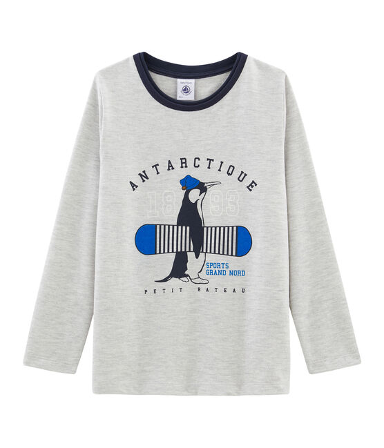 Camiseta de manga larga para niño gris Beluga