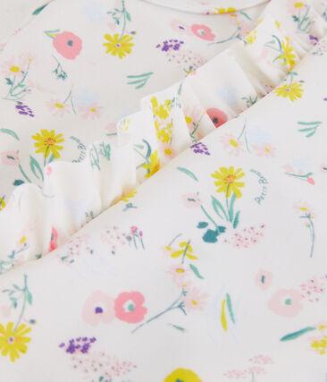 Traje de baño UPF 50+ de una pieza para niña blanco Marshmallow / blanco Multico
