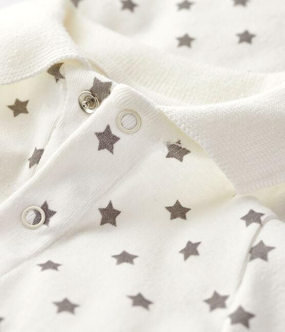 Bodi con cuello de polo estampado para bebé niño blanco Marshmallow / gris Gris