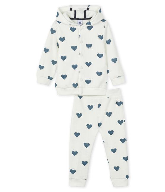 Sudadera y jogging para bebé blanco Marshmallow / azul Astro