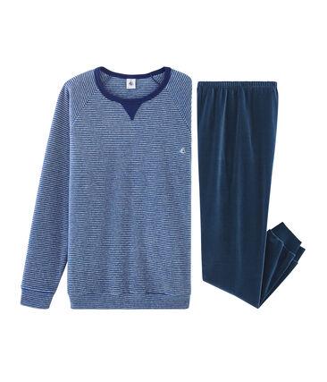 Pijama de niño bimaterial azul Major / gris Subway