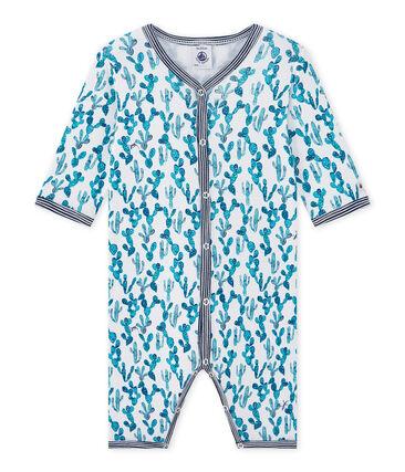 Pijama sin pies estampado de cactus para bebé niño