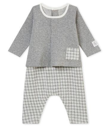 Pelele largo vichy para bebé niño