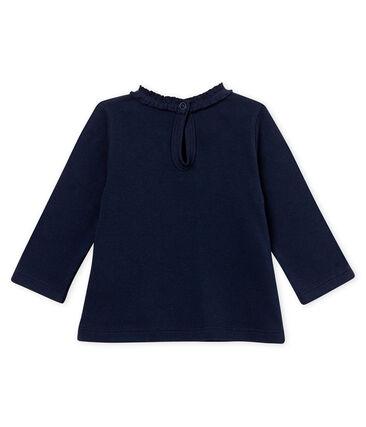 Blusa para bebé niña lisa azul Smoking