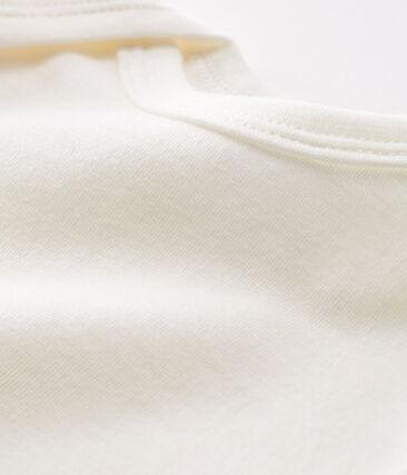 Body de manga larga para bebé de lana y algodón blanco Marshmallow Cn