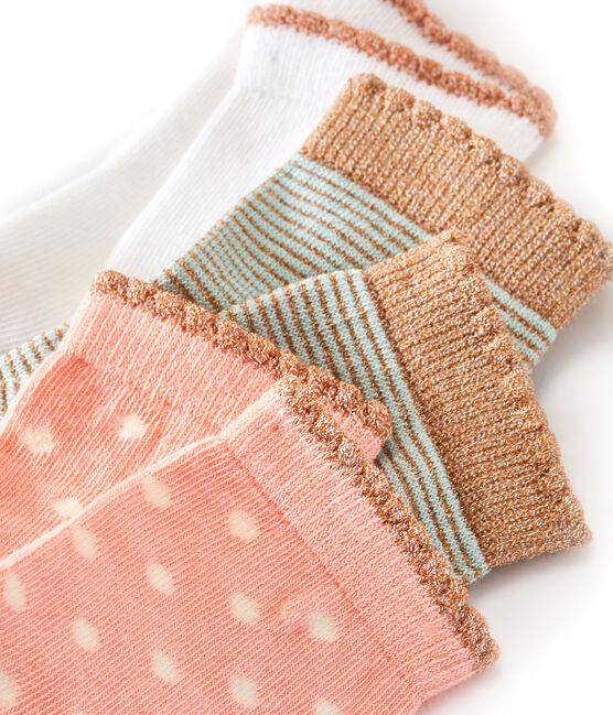 Caja de 3 pares de calcetines infantiles para niña lote .