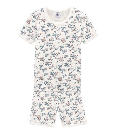 Pijama corto de corte muy ajustado de punto para niña