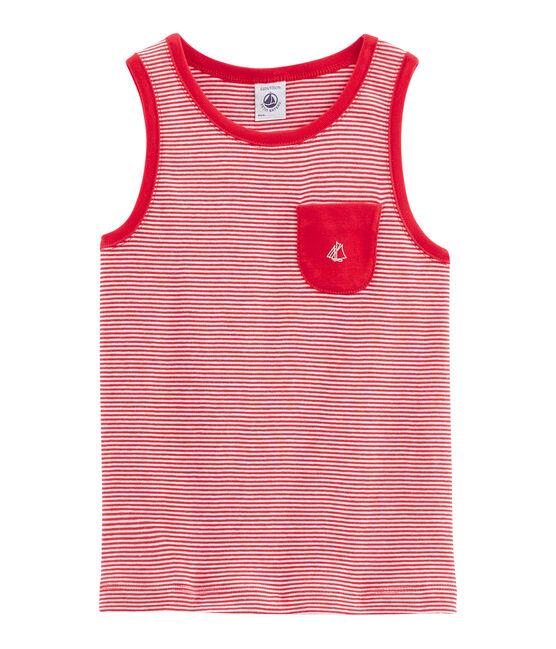 Camiseta de tirantes de niño rojo Peps / blanco Marshmallow