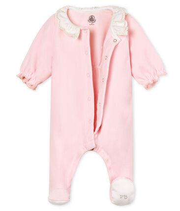 Pelele de terciopelo de algodón para bebé niña rosa Vienne