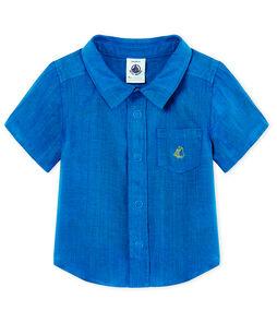 Camisa manga corta de lino para bebé niño