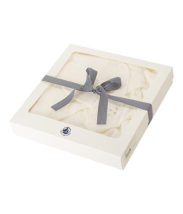 Capa cuadrada de baño y peluche de BE de túbico blanco Marshmallow / blanco Multico